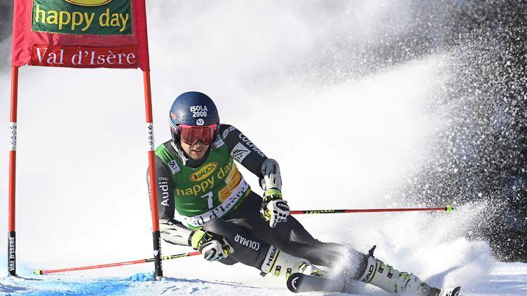 Mathieu Faivre a été géant à Val d'Isère (PHILIPPE DESMAZES / AFP)