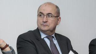 Jean-Luc Poulain, le président du Salon international de l'agriculture, lors d'une conférence de presse de présentation du Salon en 2014. (CHRISTOPHE MORIN / MAXPPP)