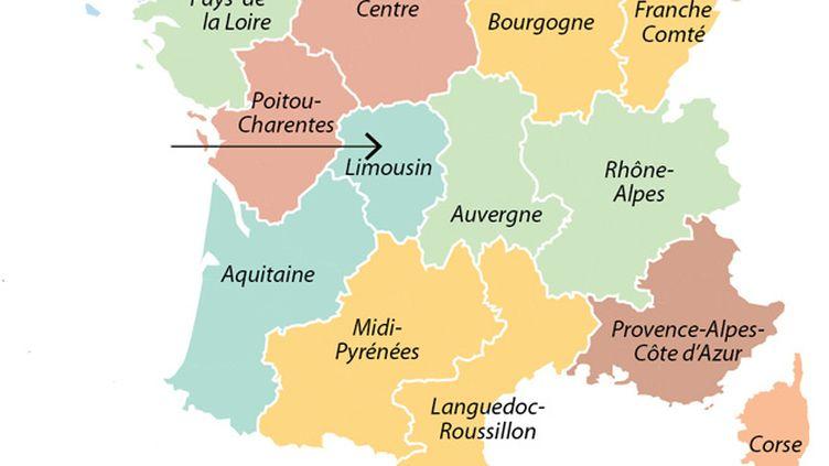 (Dans la nouvelle carte proposée ce mardi, le Limousin rejoint l'Aquitaine © Idé)