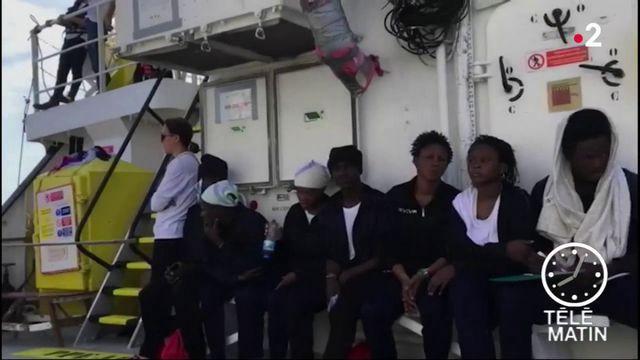 """Aquarius"" : grosses tensions entre la France et l'Italie"