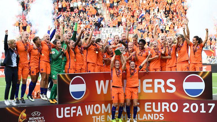 Les Néerlandaises championnes d'Europe (JOHN THYS / AFP)