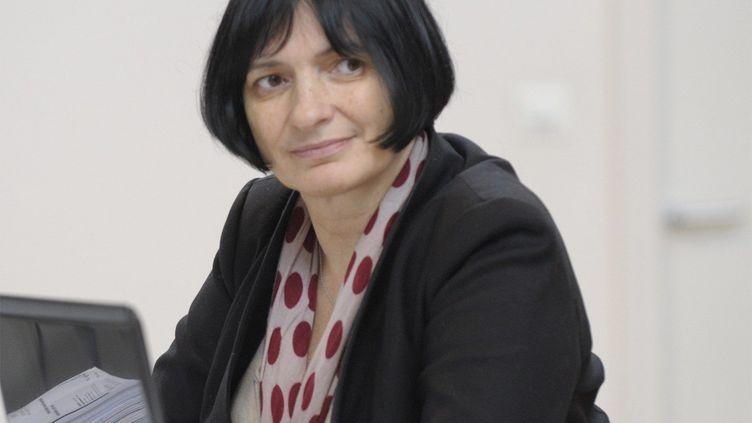 La psychiatre Muriel Salmona lors d'une conférence sur les viols et les agressions sexuelles en 2012. (MAXPPP / PHOTOPQR)