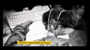 Une infirmière italienne exténuée par la charge de travail à cause du coronavirus (FRANCEINFO)