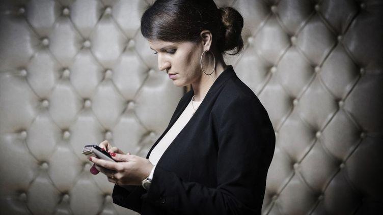 Marlène Schiappa, ministre déléguée à la Citoyenneté et candidate aux régionales à Paris sur la liste Envie-d'Ile-de-France, le 31 octobre 2017. (JOEL SAGET / AFP)