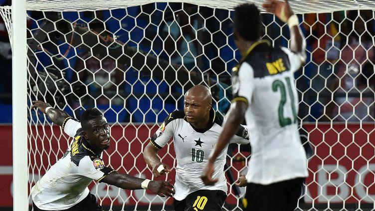 Andre Ayew buteur contre la RDC (ISSOUF SANOGO / AFP)