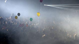Le public des Trans Musicales au Parc Expo de Rennes le 12 juin 2015 (THOMAS BREGARDIS / MAXPPP)