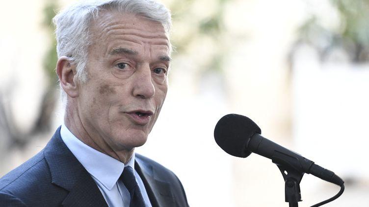 PatrickMartin, président délégué duMedef, en février 2020. (STEPHANE DE SAKUTIN / AFP)