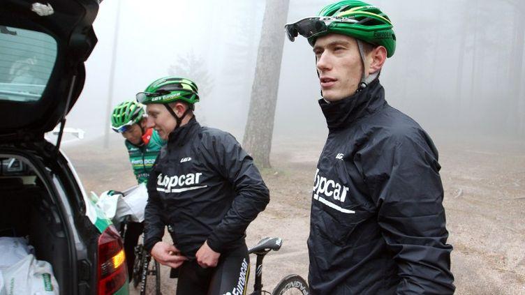 Pierre Rolland (Europcar) a abandonné lors de la 8e et dernière étape du Dauphiné. (PASCAL POCHARD-CASBIANCA / AFP)