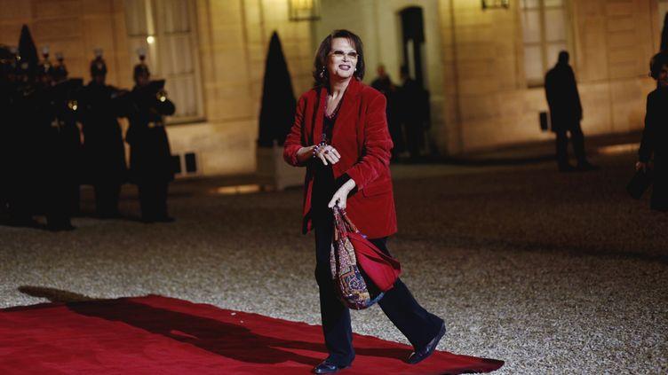 L'atrice italienne Claudia Cardinale à l'Elysée, le 21 novembre 2012. (DENIS ALLARD/REA)