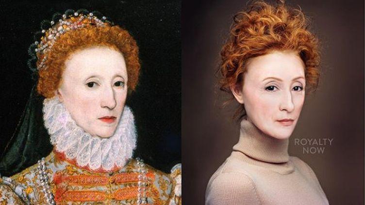 La reine d'Angleterre Elizabeth Ier, imaginée au XXIe siècle. (© Royalty Now 2020)