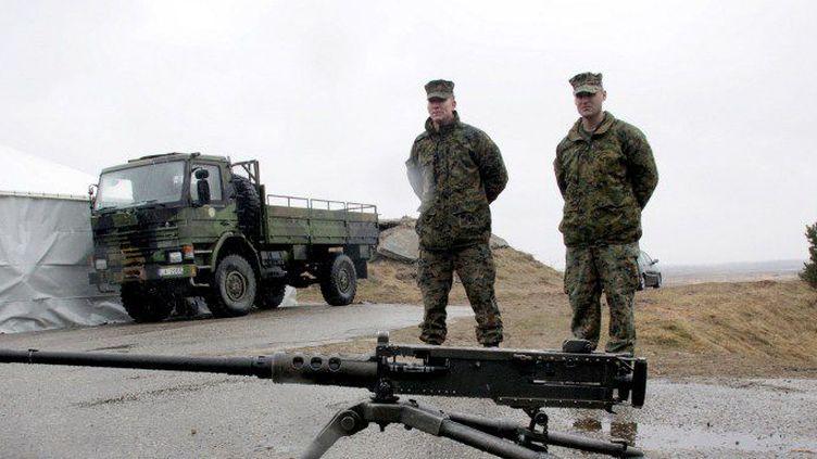 Camp militaire de Otan d'Adazi en Lettonie. (Oksana Dzhadan/RIA Novosti)
