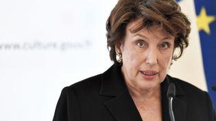 La ministre de la Culture, Roselyne Bachelot, le 1er septembre 2020 lors d'un discours à l'Opéra national de Paris. (STEPHANE DE SAKUTIN / AFP)