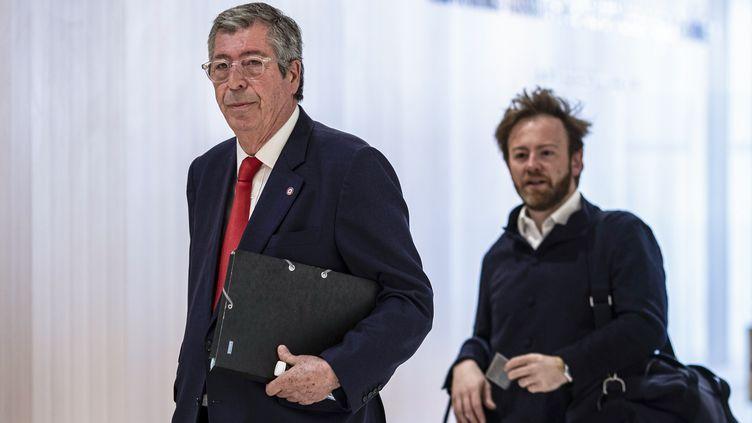 Le maire de Levallois-Perret (Hauts-de-Seine), le 23 mai 2019 au tribunal de grande instance de Paris. (KENZO TRIBOUILLARD / AFP)
