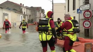 Inondations à Saintes. (FRANCE 3)