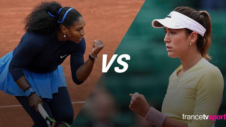 La joueuse américaine Serena Williams face à l'Espagnole Garbine Muguruza