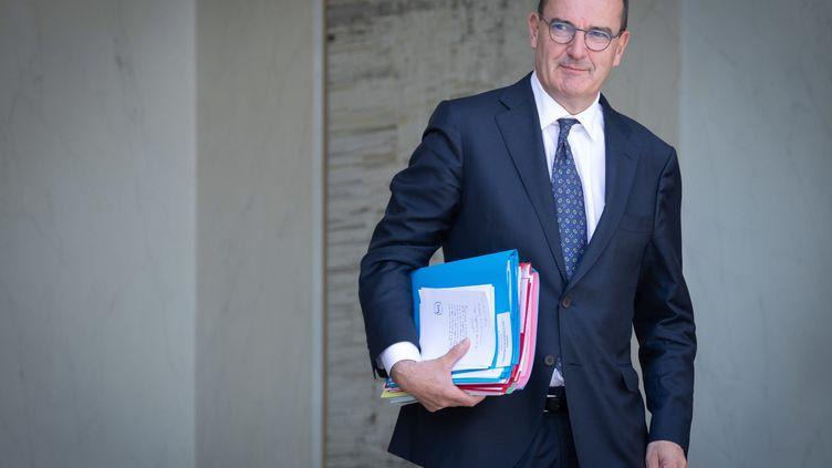 Le Premier ministre, Jean Castex, sort du Conseil des ministres, à l'Elysée, le 22 juillet 2020. (MAXPPP)