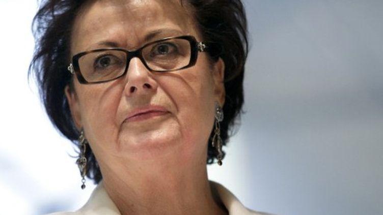 Christine Boutin, candidate du Parti démocrate à l'élection présidentielle. (THOMAS SAMSON / AFP)
