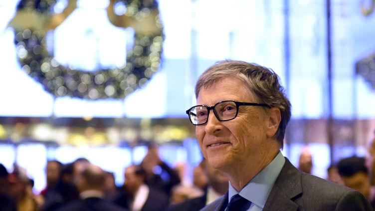 Bill Gates, le 13 décembre 2016 à New-York, fait partie des plus grosses fortunes mondiales. (Photo d'illustration) (TIMOTHY A. CLARY / AFP)