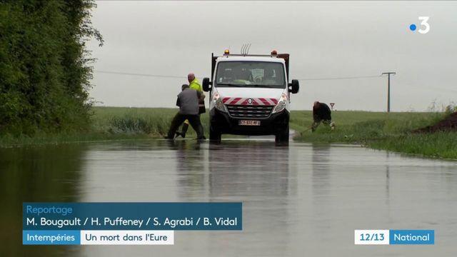 Intempéries : un homme retrouvé noyé dans sa voiture dans l'Eure