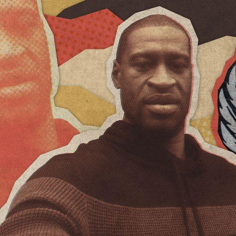 George Floyd, un Afro-Américain de 46 ans, est mort asphyxié sous le genou d'un policier blanc à Minneapolis (Minnesota), le 25 mai 2020. (ELLEN LOZON / FRANCEINFO)
