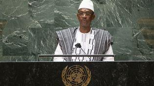 Le Premier ministre malien Choguel Kokalla Maïga lors de son interventionà la 76e session de l'Assemblée générale des Nations unies, le 25 septembre 2021, à New York. (KENA BETANCUR / POOL)