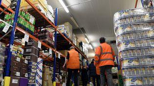 Une partie des stocks de la Banque alimentaire de Nancy (Meurthe-et-Moselle). (MAXPPP)