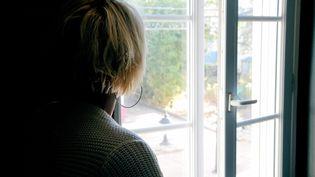 Une femme victime de violences conjugales - illustration. (ESDOURRUBAILH / MAXPPP)