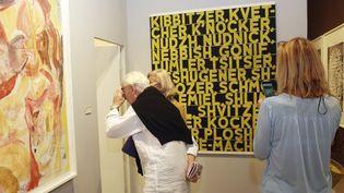 Art Basel à Miami :visiteurs à la galerie Two Palms, décembre 2014.  (Aaron Davidson / Getty Images/ AFP)