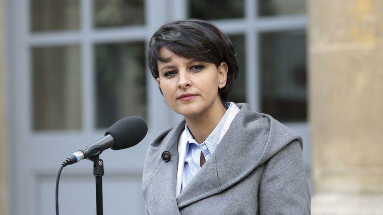 Najat Vallaud-Belkacem, la ministre de l'Education nationale,le 1er avril 2015, à Paris. (  MAXPPP)