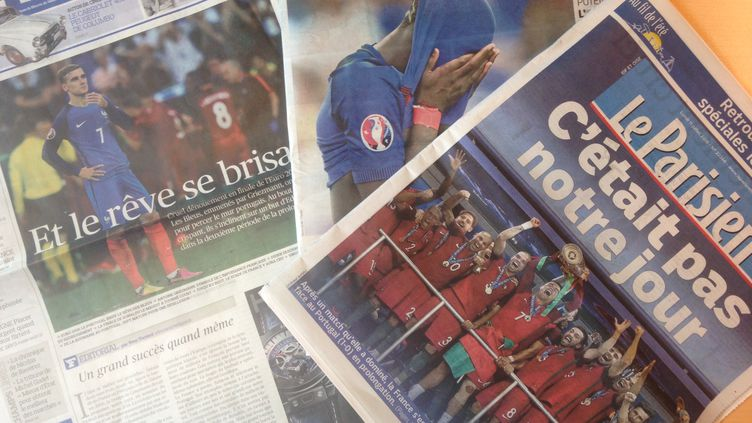 Détresse unanime dans la presse française au lendemain de la défaites des Bleus en finale de l'Euro 2016