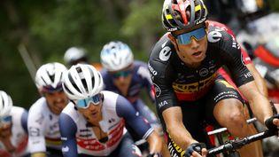 Wout Van Aert est sorti vainqueur de la double ascension du Ventoux, le 7 juillet 2021 sur le Tour de France. (THOMAS SAMSON / AFP)