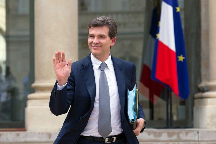 Arnaud Monterbourg à la sortie de l'Elysée le 1er août 2012. (BERTRAND LANGLOIS / AFP)