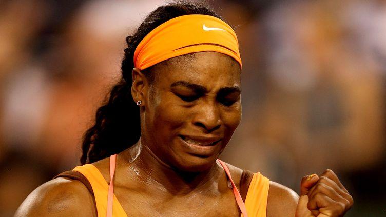 Serena Williams, très émue après sa victoire (MATTHEW STOCKMAN / GETTY IMAGES NORTH AMERICA)
