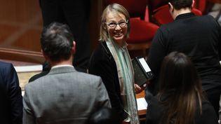 La ministre de la Culture, Françoise Nyssen, le 6 mars 2018 à l'Assemblée nationale. (JACQUES DEMARTHON / AFP)