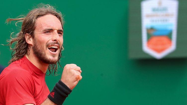 Stéfanos Tsitsipas s'impose en finale du Masters 1000 de Monte-Carlo ce dimanche 18 avril. (VALERY HACHE / AFP)