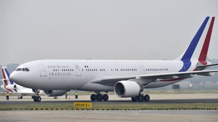 L'A330 présidentiel de Nicolas Sarkozy (AFP/Lionel BONAVENTURE)