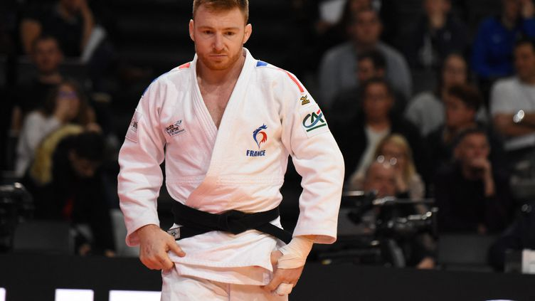 Axel Clerget va entrer en scène dans la catégorie des -90kg en judo mercredi 28 juillet à Tokyo. (YOANN CAMBEFORT / DPPI via AFP)