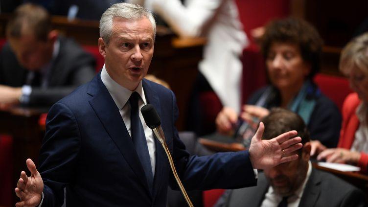 Bruno Le Maire, mercredi 17 octobre 2018 à l'Assemblée nationale. (ERIC FEFERBERG / AFP)