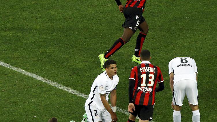 Marco Verratti, Thiago Silva et Thiago Motta tête baissée face à Nice, le symbole de cadres qui ont failli (JEAN FRAN?OIS OTTONELLO / MAXPPP)