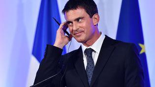 Le Premier ministre français Manuel Valls, lors d'un déplacement à Londres, le 6 octobre 2014. (BEN STANSALL / AFP)