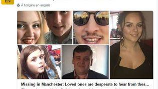 """Capture d'écran de l'avis de recherche posté sur Twitter par """"The Manchester Evening News"""" après l'attentat à la Manchester Arena, le 23 mai 2017. (MANCHESTER NEWS / TWITTER)"""
