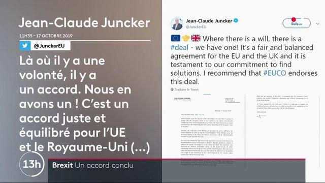 Brexit : l'UE et le Royaume-Uni concluent un nouvel accord