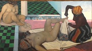 Jules Migonney, Le Bain maure, 1911, Huile sur toile, 104 x 188 cm.  ( Bourg-en-Bresse, musée du monastère royal de Brou.)