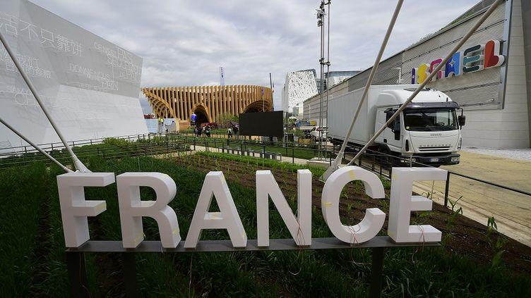 Toujours le pavillon français, vu de l'entrée. (OLIVIER MORIN / AFP)