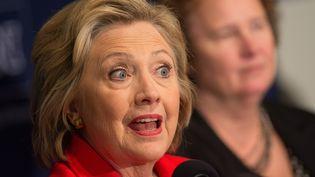 Hillary Clinton à l'Université du Nevada, à Reno le 15 février 2016 (DAVID CALVERT / GETTY IMAGES / AFP)
