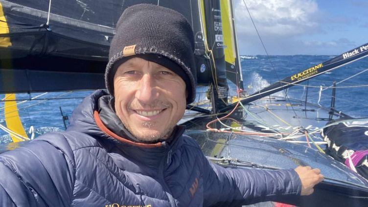 Le skipper Armel Tripon sur son bâteau l'Occitane en Provence le 3 janvier 2021. (ARMEL TRIPON)