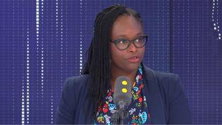 Sibeth Ndiaye, secrétaire d'État auprès du Premier ministre et porte-parole du gouvernement, vendredi 4 octobre 2019 sur franceinfo (FRANCEINFO / RADIOFRANCE)