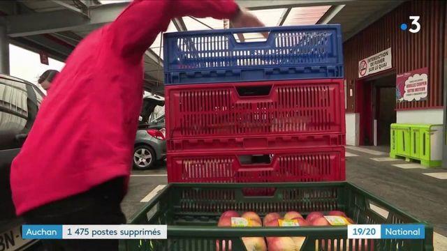 La grande distribution en crise : 1 475 postes supprimés chez Auchan