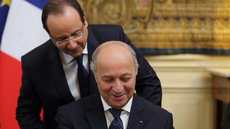 (François Hollande propose la nomination de Laurent Fabius à la tête du Conseil Constitutionnel © REUTERS/Philippe Wojazer)