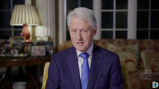 L'ancien président américain Bill Clinton dans une vidéo du parti démocrate, en août 2020. (DEMOCRATIC NATIONAL CONVENTION / AFP)
